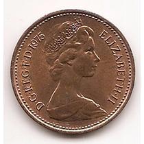 Moneda Gran Bretaña Inglaterra 1 Penny One Penny Año 1971