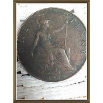 Moneda Inglaterra 1908 One Penny Ref P2-24