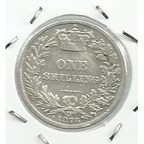 Inglaterra 1 Shilling 1878 Plata
