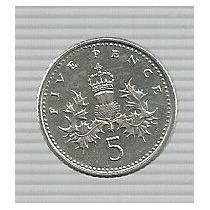 Inglaterra 5 Pence 1999