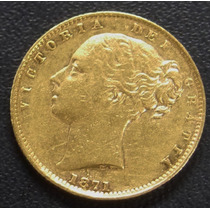Soverano Reina Victoria Joven 1871 Escudo Coronado Lindisima
