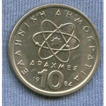 Grecia 10 Drachmai 1984 * Democritus *