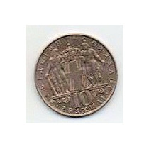 10 Drachmai Grecia 1968 C/nickel Vf Mm 1081