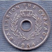 Grecia 10 Lepta 1954 * Orificio * Paul I * Reino *