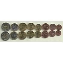 Serie De 8 Monedas De Euros De Grecia Sin Circular