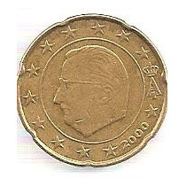 Bélgica 20 Centavos De Euro