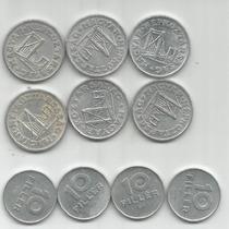 Hungria Lote De 10 Monedas De 10 Y 50 Filler Años Diferentes