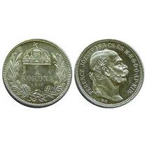 Hungria Antigua Moneda De Plata 1 Corona 1915.sin Circular!