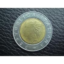 Italia - Moneda Bimetalica De 500 Liras Año 1992