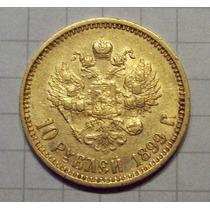 Moneda De Oro Rusia 10 Rublos 1899 Excelente
