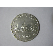 Moneda Italia Plata .835 Peso 11 G. 500 Liras