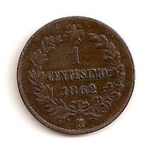 Moneda De Italia 1 Centesimo 1862