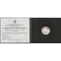 San Marino, 500 Lire, 1975. Plata. Apertura Ceca. Set