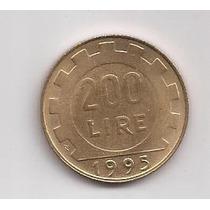 Italia Moneda De 200 Liras Año 1995 !!!