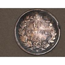 10 Centésimi 1866 Italiana..
