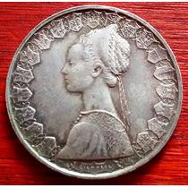 1958 - Italia - Moneda De Plata - 500 Liras - Fragatas