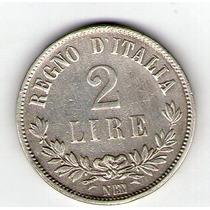 Moneda De Italia 2 Liras 1863