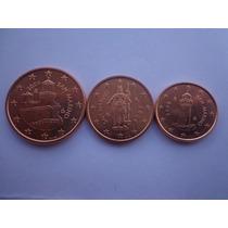Lote De 3 Monedas De Euro De San Marino Año 2006