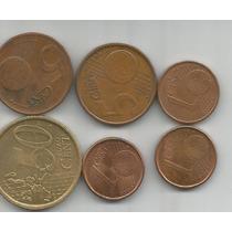 Lote De 6 Monedas Centavos De Euro Grecia España Francia