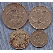 Chipre 1980 * 4 Monedas * Oferta!!!
