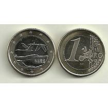 Moneda Finlandia Bimetalica 1 Euro Año 2005 Sin Circular