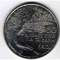 Hermosa Moneda De Chipre Año 1985 Tema F.a.o. Sin Circular-