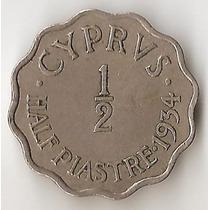 Chipre Britanico, 1/2 Piastra, 1934. Vf