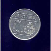 Moneda De Aruba 1 Florin Arubeño 1986