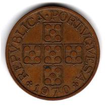Moneda Portugal 1 Escudo 1970 Km#597