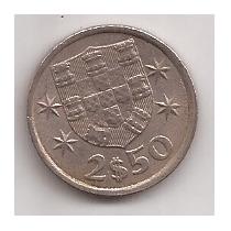 Portugal Moneda De 2 1/2 Escudos Año 1978 !!