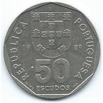 Moneda De Portugal 50 Escudos 1989 Excelente +++++