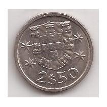 Portugal Moneda De 2 1/2 Escudos Año 1983 !!
