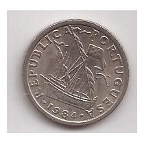 Portugal Moneda De 2 1/2 Escudos Año 1984 !!