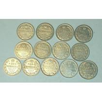 Rusia Coleccion De 13 Monedas De 20 Kopeks 1903 A 1915.exc!!