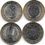 3 Monedas Rusia Bimetalicas 2015 70 Años 2da Guerra Mundial