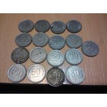 17 Monedas Coleccion De 50 Centavos Del 50 Al 60