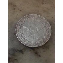 Moneda Rusia 50 Kopeks 1922 De Plata Escasa