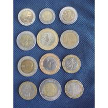 Lote De Monedas Bimetálicas