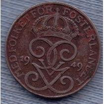 Suecia 1 Ore 1949 * Gustaf V *