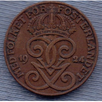 Suecia 2 Ore 1924 * Gustaf V *