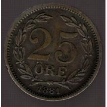 Suecia 25 Ore 1881 Eb Exc