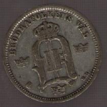 Suecia 10 Ore 1896 Eb Exc