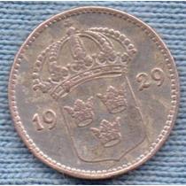 Suecia 10 Ore 1929 Plata * Gustaf V *
