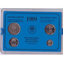 Suecia 10, 50 Ore Y 1,5 Kronor 1989 * Mint *