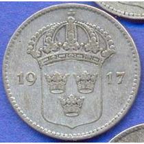 Suecia 10 Ore 1917 W Plata * Gustaf V *