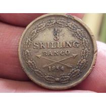 Moneda Suecia -sweden 1/3 Skilling 1854 / Ref (a 41)