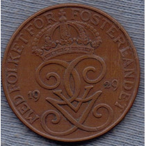 Suecia 5 Ore 1929 * Gustaf V *