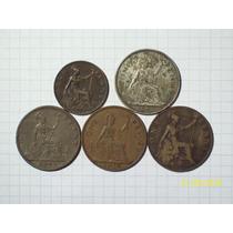 Inglaterra 5 Cobres Antiguos