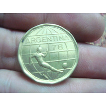 Moneda De 50 Pesos Argentina 1977 Mundial 78