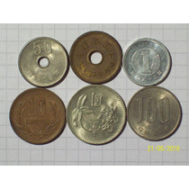 Japon Colección 6 Monedas Antiguas